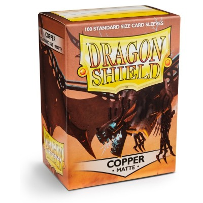 Protèges Cartes 100 pochettes Dragon Shield - Matte Copper