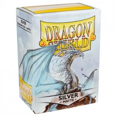 Protèges Cartes Accessoires Pour Cartes 100 pochettes Dragon Shield - Matte Silver