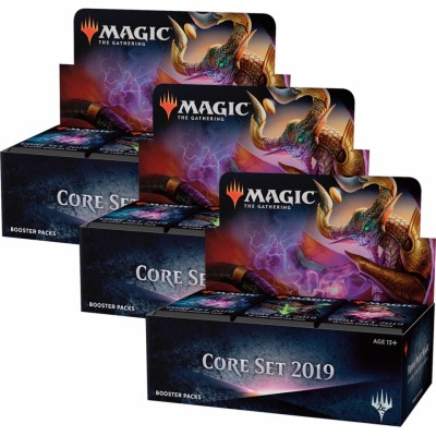 Boites de Boosters Magic the Gathering Core Set 2019 - Lot de 3
