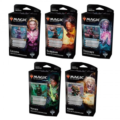 Decks Préconstruits Magic the Gathering Core Set 2019 - Planeswalker Decks - Lot des 5
