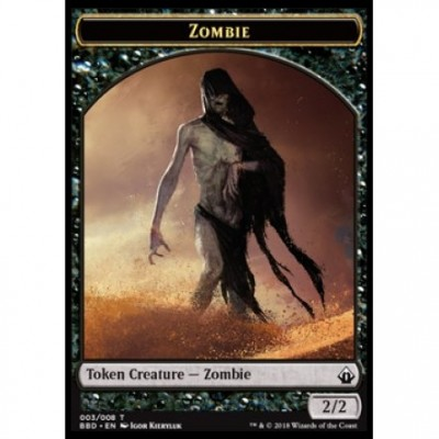 Tokens Magic Magic the Gathering Jeton - Battlebond- (03/8) Zombie