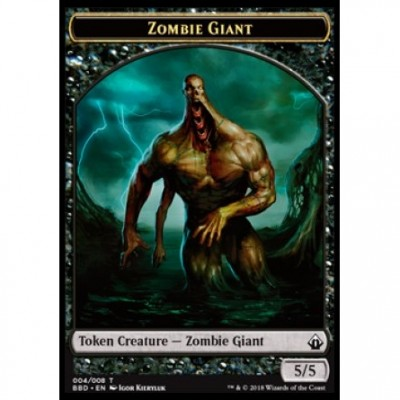 Tokens Magic Magic the Gathering Jeton - Battlebond- (04/8) Zombie et Géant