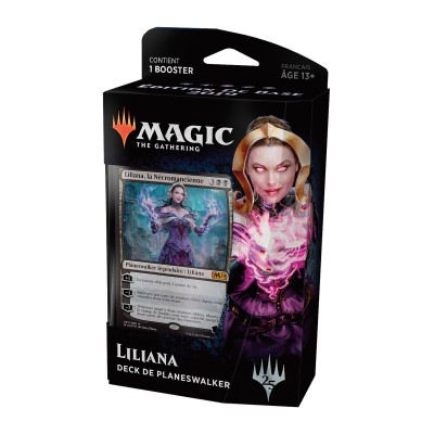 Decks Préconstruits Magic the Gathering Edition de base 2019 - Deck de Planeswalker - Liliana, la Nécromancienne