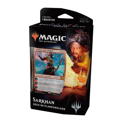 Decks Préconstruits Magic the Gathering Edition de base 2019 - Deck de Planeswalker - Sarkhan, Ame-dragon