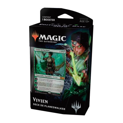 Decks Préconstruits Magic the Gathering Edition de base 2019 - Deck de Planeswalker - Vivien au Bestiarc