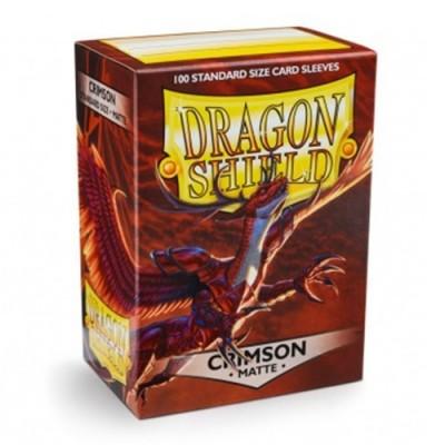 Protèges Cartes 100 pochettes Dragon Shield - Matt Crimson