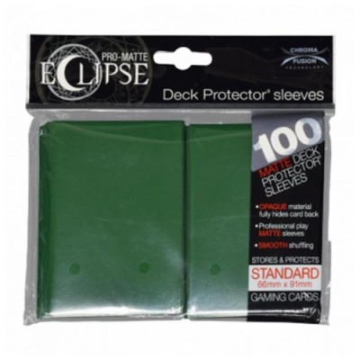 Protèges Cartes  100 pochettes - Eclipse - Forest Green