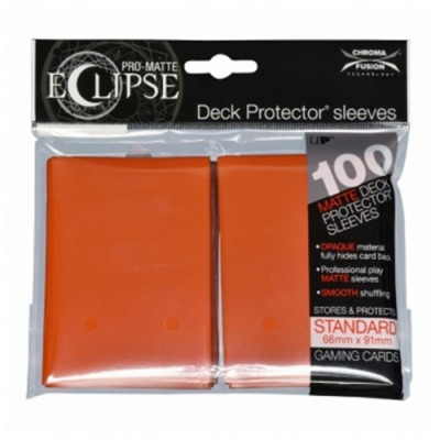 Protèges Cartes 100 pochettes - Pro Matte Eclipse - Pumpkin Orange