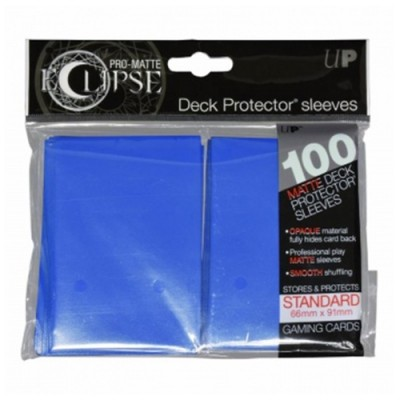 Protèges Cartes  100 pochettes - Deck Protector - Pro Matte Eclipse - Pacific Blue