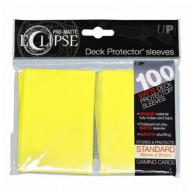 Protèges Cartes Accessoires Pour Cartes 100 pochettes - Pro Matte Eclipse - Lemon Yellow