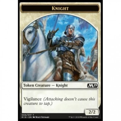 Tokens Magic Magic the Gathering Jeton - Edition de Base 2019- (04/17) Chevalier