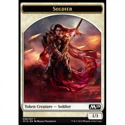 Token Magic Magic the Gathering Jeton - Edition de Base 2019- (06/17) Soldat