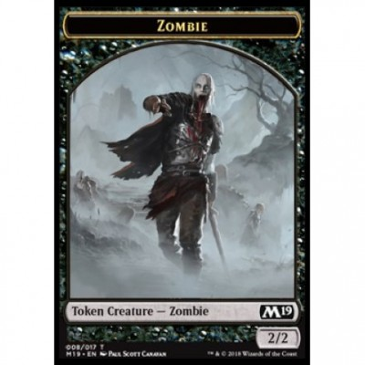 Tokens Magic Magic the Gathering Jeton - Edition de Base 2019- (08/17) Zombie