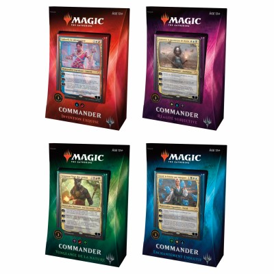 Decks Magic the Gathering Commander 2018 - Lot de 4 différents