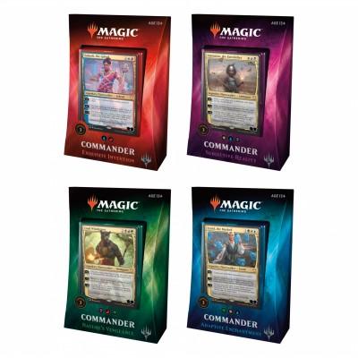 Decks Préconstruits Magic the Gathering Commander 2018 - Lot de 4 différents