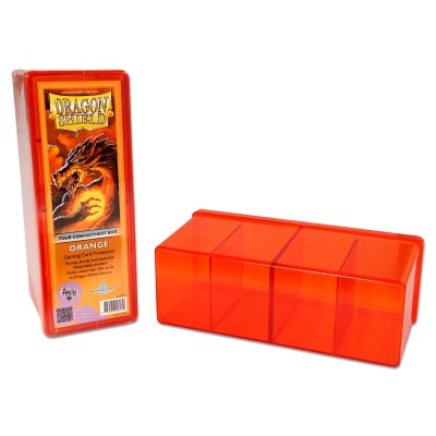Boites de Rangements Accessoires Pour Cartes 4 Compartiments - Orange