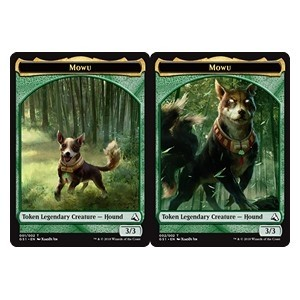 Tokens Magic Magic the Gathering Jeton - Mowu Token // Mowu Token (Global Series Jiang Yanggu & Mu Yanling)
