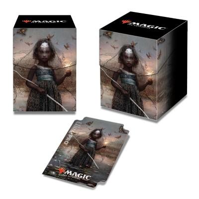 Boites de rangement illustrées Accessoires Pour Cartes Commander 2018 - Deck Box 100+ - Aminatou, la façonneuse de destin