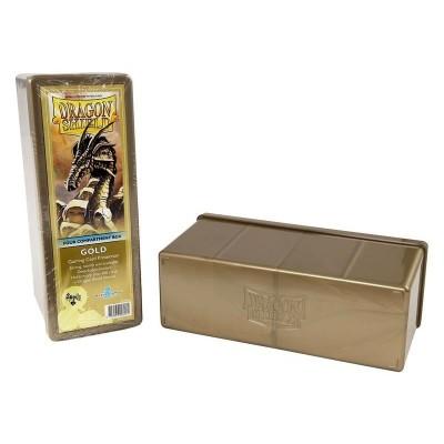Boites de Rangements Accessoires Pour Cartes 4 Compartiments - Gold