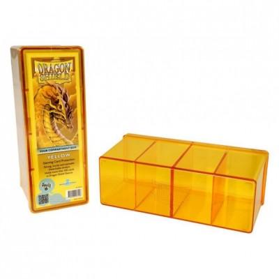 Boites de Rangements Accessoires Pour Cartes 4 Compartiments - Jaune