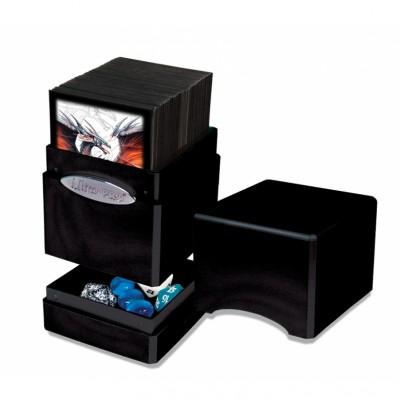 Boites de Rangements Accessoires Pour Cartes Satin Tower - Hi-Gloss Midnight