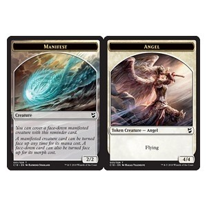 Tokens Magic Magic the Gathering Commander 2018 - Jeton double face : Manifestation / Ange