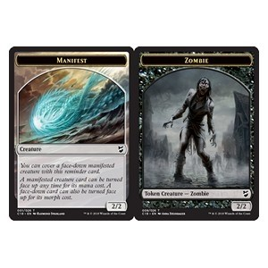 Token Magic Magic the Gathering Commander 2018 - Jeton double face : Manifestation / Zombie