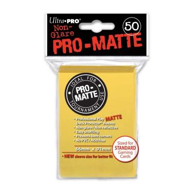 Protèges Cartes Accessoires Pour Cartes 50 pochettes - Pro-Matte - Jaune