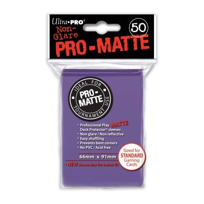 Protèges Cartes 50 pochettes - Pro-Matte - Violet