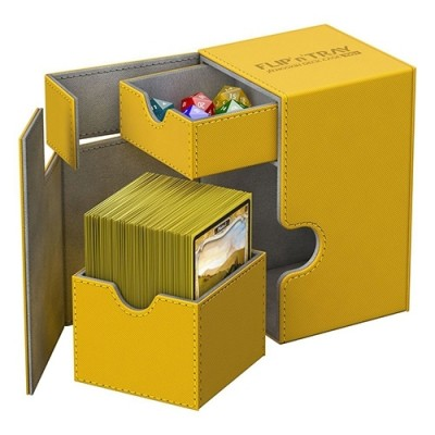 Boites de Rangements Accessoires Pour Cartes Deck Box - Xenoskin 100 - Ambre - T2+