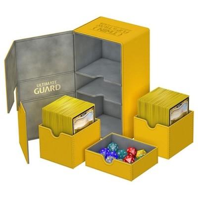 Boites de Rangements Accessoires Pour Cartes Deck Box - Double 200+ - Ambre - T4