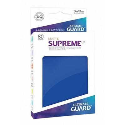 Protèges Cartes Accessoires Pour Cartes 80 Pochettes - Supreme Ux Matte - Bleu