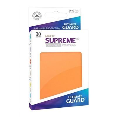 Protèges Cartes Accessoires Pour Cartes 80 Pochettes - Supreme Ux Matte - Orange