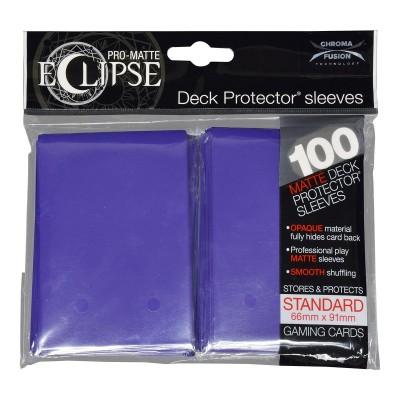 Protèges Cartes Accessoires Pour Cartes 100 pochettes - Deck Protector - Pro Matte Eclipse - Royal Purple