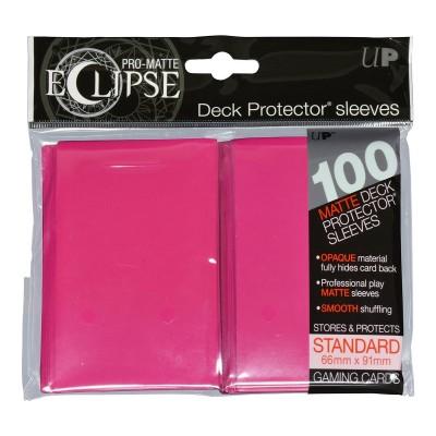 Protèges Cartes Accessoires Pour Cartes 100 pochettes - Deck Protector - Pro Matte Eclipse - Hot Pink