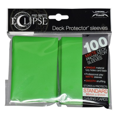Protèges Cartes  100 pochettes - Deck Protector - Pro Matte Eclipse - Lime Green