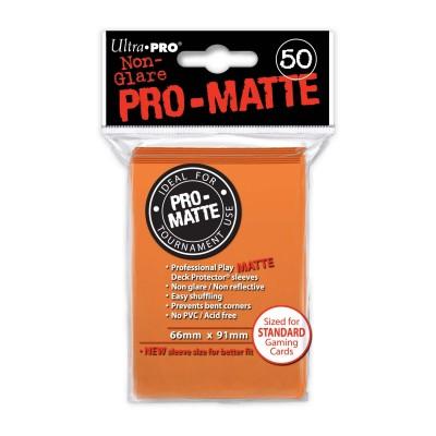 Protèges Cartes Accessoires Pour Cartes 50 pochettes - Pro Matte - Orange