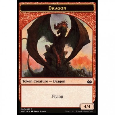 Tokens Magic Magic the Gathering Token/Jeton - Modern Masters 2017 - 07/21 Dragon