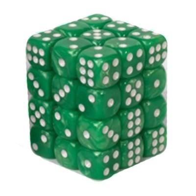 Dés et compteurs Boite De 36 Dés à 6 Faces 12mm - Marbled Light Green