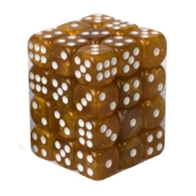 Dés et compteurs Accessoires Pour Cartes Boite De 36 Dés à 6 Faces 12mm - Marbled Light Brown