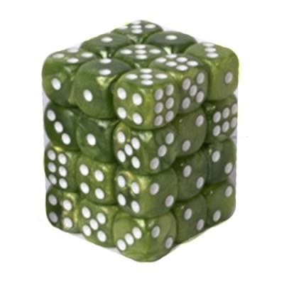 Dés et compteurs Accessoires Pour Cartes Boite De 36 Dés à 6 Faces 12mm - Marbled Grass Green