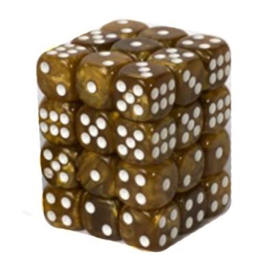 Dés et compteurs Accessoires Pour Cartes Boite De 36 Dés à 6 Faces 12mm - Marbled Dark Brown
