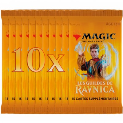 Boosters Magic the Gathering Les Guildes de Ravnica - Lot de 10