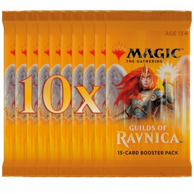 Boosters Magic the Gathering Guilds of Ravnica - Lot de 10