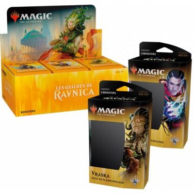 Offres Spéciales Magic the Gathering Les Guildes de Ravnica - Super Pack : Boite VF + 2 Decks VF