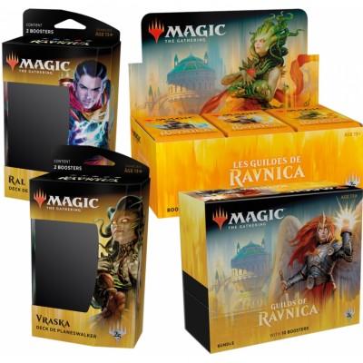 Offres Spéciales Magic the Gathering Les Guildes de Ravnica - Mega Pack : Boite VF + 2 Decks VF + Bundle VO