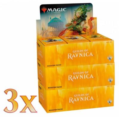Boites de Boosters Magic the Gathering Guilds of Ravnica - Lot de 3