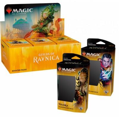 Offres Spéciales Magic the Gathering Les Guildes de Ravnica - Super Pack : Boite VO + 2 Decks VO
