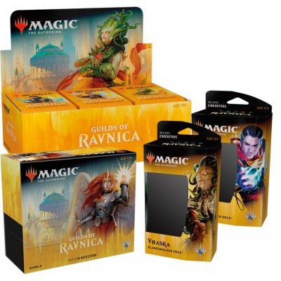 Offres Spéciales Magic the Gathering Les Guildes de Ravnica - Mega Pack : Boite VO + 2 Decks VO + Bundle VO