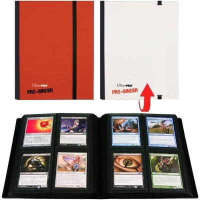 Classeurs et Portfolios  Pro-Binder A5 - 20 Pages De 4 Cases - Rouge et Blanc